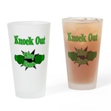 Knock Out Kidney Disease green.png Drinking Glass