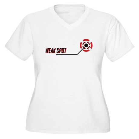 Weak Spot Women's Plus Size V-Neck T-Shirt