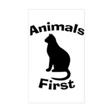 """""""Animals First"""" Decal"""