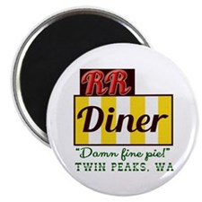 """Double RR Diner in Twin Pea 2.25"""" Magnet (10 pack)"""