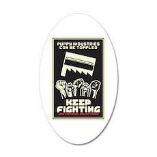 Keep Fighting 35x21 Oval Wall Decal