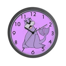 Cartoon Sea Lion Wall Clock