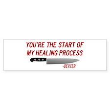 dexter-HEALING-PROCESS Bumper Bumper Sticker