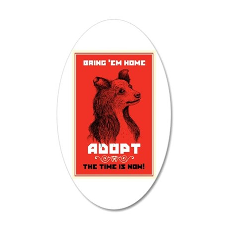Bring 'Em Home 20x12 Oval Wall Decal