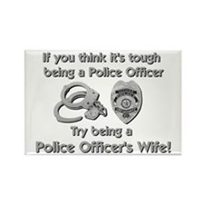Tough Police Wife Rectangle Magnet
