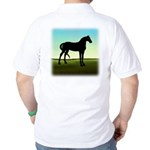 Grassy Field Horse Golf Shirt