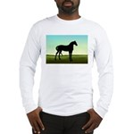 Grassy Field Horse Long Sleeve T-Shirt