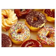 Assorted delicious donuts Invitations