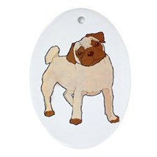 Pug Moment Oval Ornament