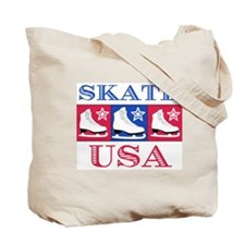 Ice Skate USA Tote Bag