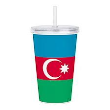 Azerbaijan Flag Acrylic Double-Wall Tumbler