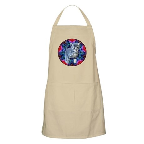 Kaleidoscope Kitty BBQ Apron