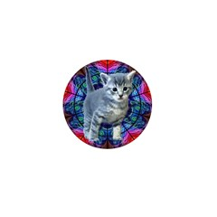 Kaleidoscope Kitty Mini Button (100 pack)