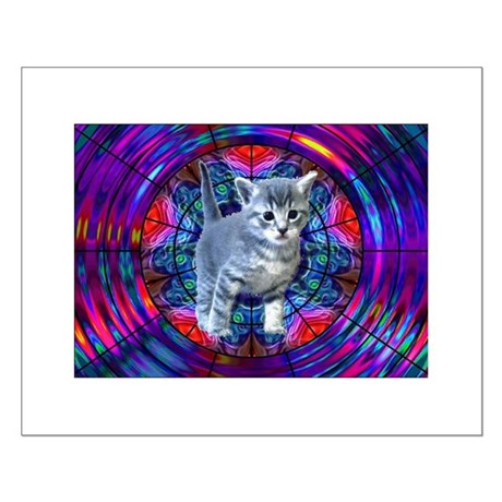 Kaleidoscope Kitty Small Poster