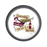 Cooking With Wine Wall Clock