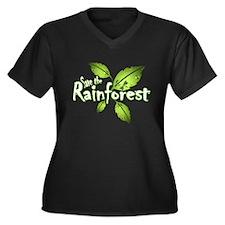 Save the rainforest 2 Women's Plus Size V-Neck Dar