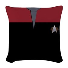 VOY Red Uniform Woven Throw Pillow