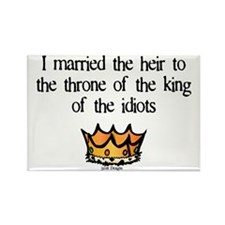 King Of Idiots Rectangle Magnet (10 pack)