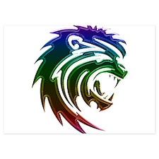 Rainbow Lion Head Invitations
