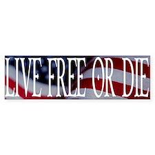 LIVE FREE OR DIE Bumper Bumper Sticker
