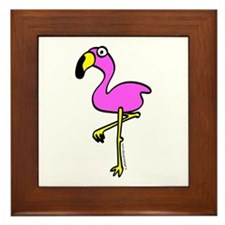 Flamingo! Framed Tile