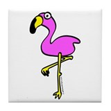 Flamingo! Tile Coaster