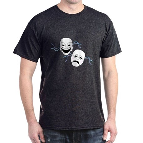 Theater Masks Dark T-Shirt