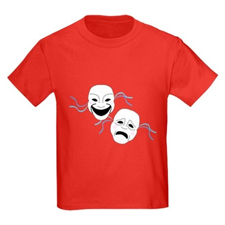 Theater Masks Kids Dark T-Shirt