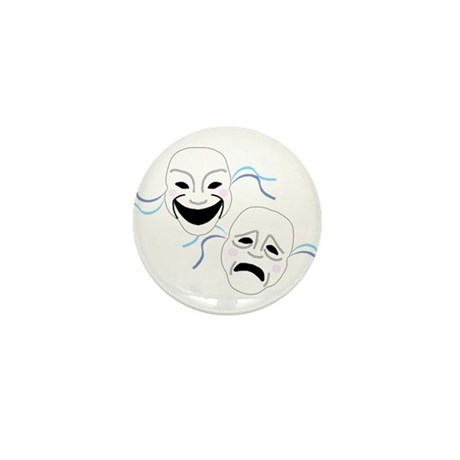 Theater Masks Mini Button