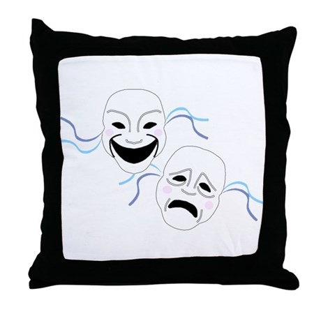 Theater Masks Throw Pillow