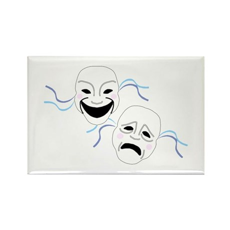 Theater Masks Rectangle Magnet