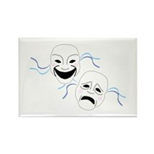Theater Masks Rectangle Magnet (10 pack)
