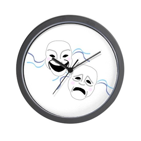 Theater Masks Wall Clock