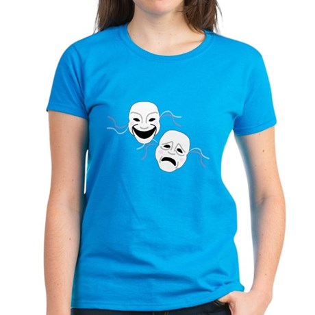 Theater Masks Women's Dark T-Shirt