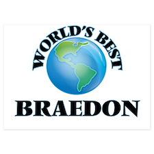 World's Best Braedon Invitations