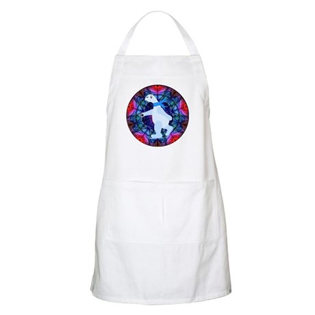 Skating Polar Bear BBQ Apron
