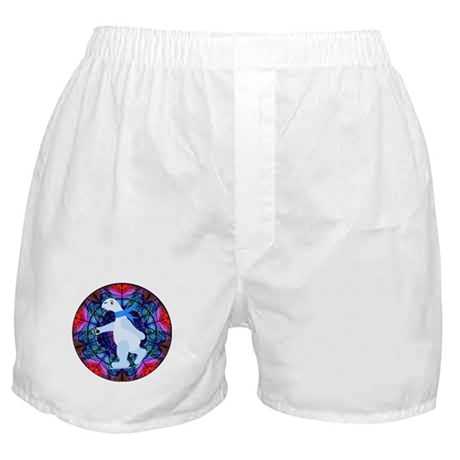 Skating Polar Bear Boxer Shorts