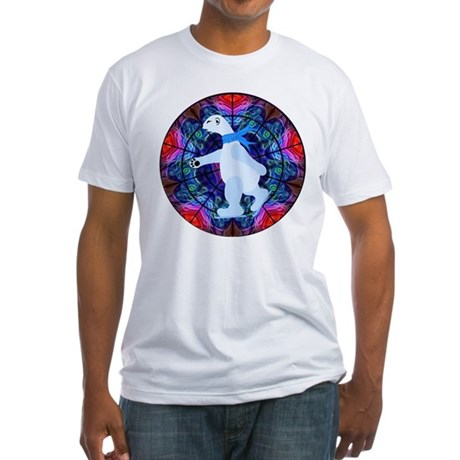 Skating Polar Bear Fitted T-Shirt