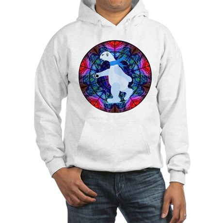 Skating Polar Bear Hooded Sweatshirt