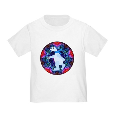 Skating Polar Bear Toddler T-Shirt