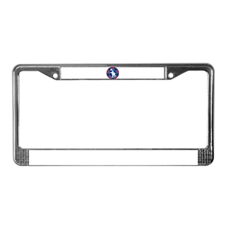 Skating Polar Bear License Plate Frame