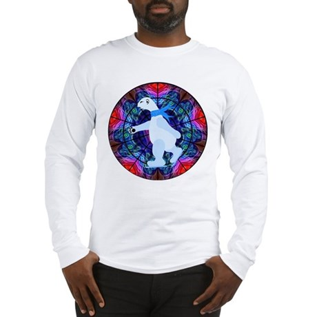 Skating Polar Bear Long Sleeve T-Shirt