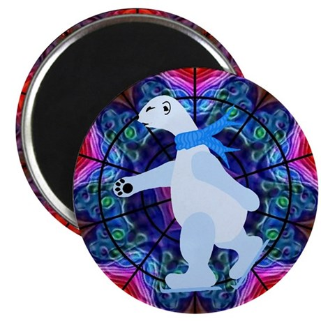 Skating Polar Bear Magnet
