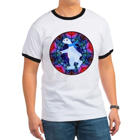 Skating Polar Bear Ringer T