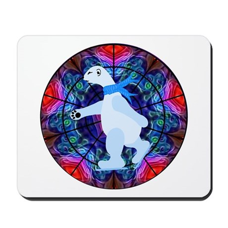 Skating Polar Bear Mousepad