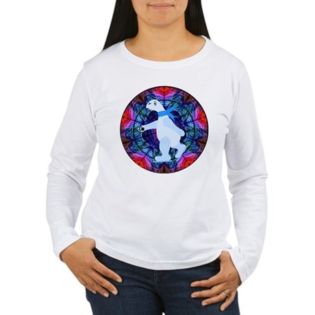 Skating Polar Bear Women's Long Sleeve T-Shirt