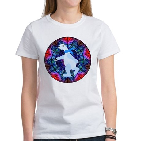Skating Polar Bear Women's T-Shirt