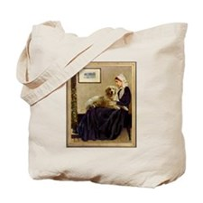 Whistler's Mother & Golden Retriever Tote Bag