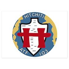 ATF-103 USS Hitchiti Military Patch.ps Invitations