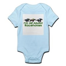 I'm All About Racehorses Infant Bodysuit